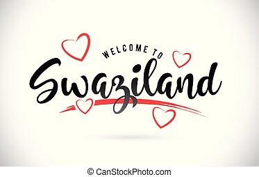 parola, testo, benvenuto, hearts., swaziland, amore, font, rosso, scritto mano