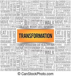 parola, trasformazione, nuvola