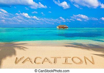 parola, vacanza, su, spiaggia