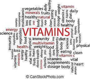 parola, vitamina, nuvola
