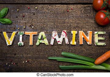 parola, vitamine, costruire, verdura, lettere, canapes