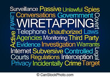 parola, wiretapping, nuvola