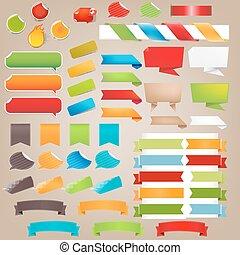 parole, étiquettes, bulle, coloré