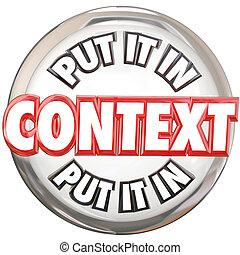 parole, bottone, esso, significato, capire, context, mettere...