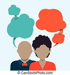 parole, bulles, communication