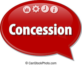 parole, business, bulle, illustration, concession, terme