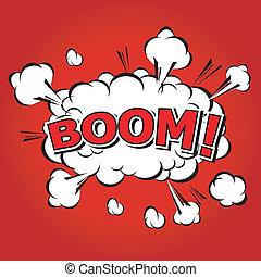 parole, comique, bulle, boom!