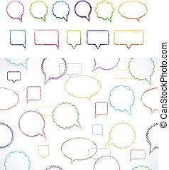 parole, divers, ensemble, vecteur, bulles