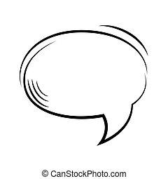 parole, message, bulle, icône
