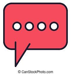 parole, message, bulle, isolé, icône