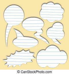 parole, papier, bulle