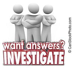 parole, persone, braccia, risposte, investigare, ...