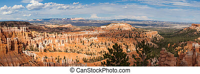 Paronamic view of Bryce canyon national park in Utah