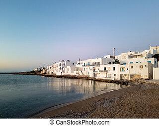 Beach on Paros island in Greece.