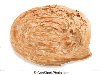 Parotta isolated on white background