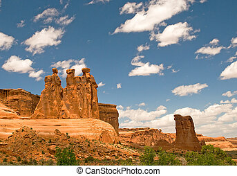 parque, arcos nacionales, estados unidos de américa, utah