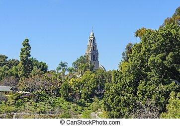 parque,  balboa,  California,  San,  Diego