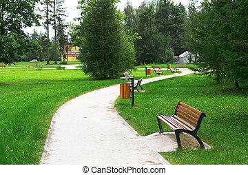 parque, callejón