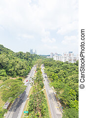 parque, camino, singapore.