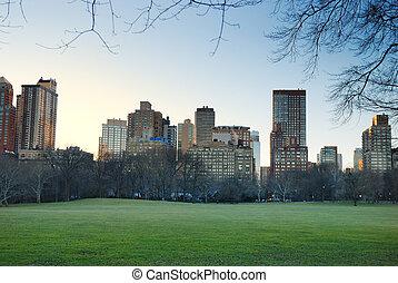 parque central, ciudad nueva york