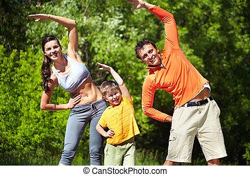 parque, condicão física