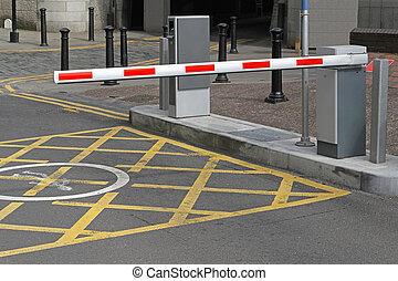 parque de coche, barrera