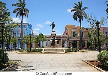 Libertys Park, Parque de la Libertad in Matanzas, Cuba
