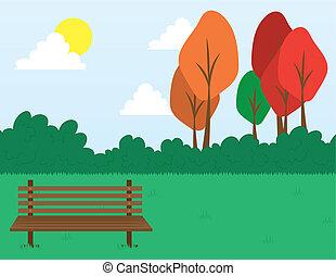 parque, escena