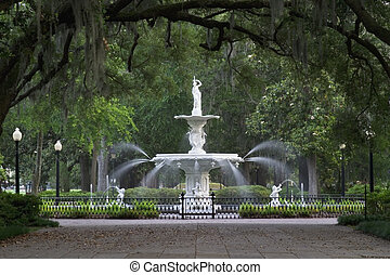 parque, fuente, forsyth