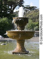 parque, fuente
