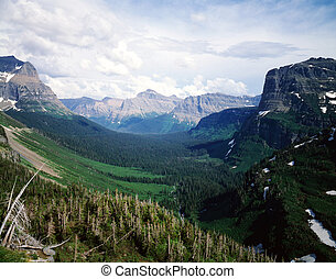 parque geleira, nacional, montana