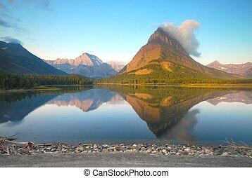 parque nacional del glaciar, en, montana