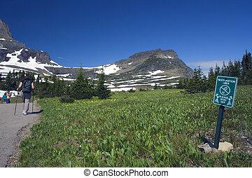 parque nacional del glaciar, excursionismo