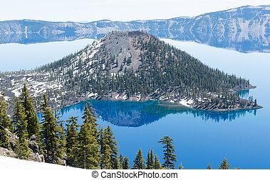 parque nacional del lago del cráter, oregón