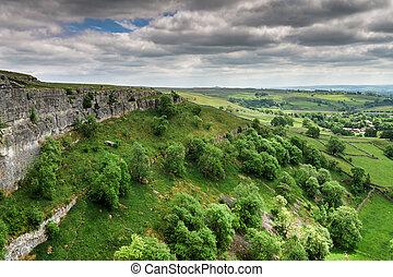 parque nacional, ensenada, malham, valles de yorkshire,...