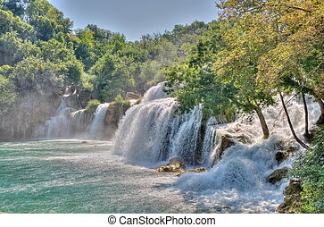 parque, nacional, krka, croacia
