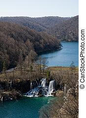 parque nacional, plitvice, en, croacia