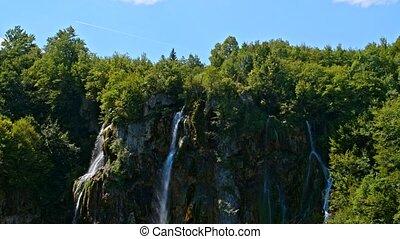 parque nacional, plitvicka, jezera., europa