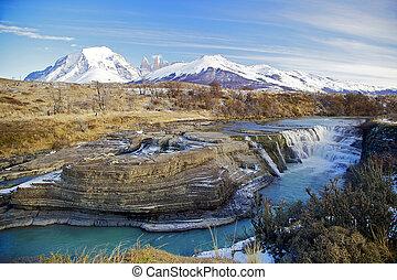 Torres del Paine, Chile - Parque Nacional Torres del Paine,...