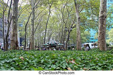 parque, nueva york, bryant, ciudad
