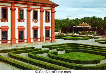 parque, palácio