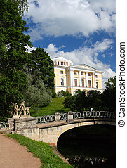 parque, palácio, pavlovsk