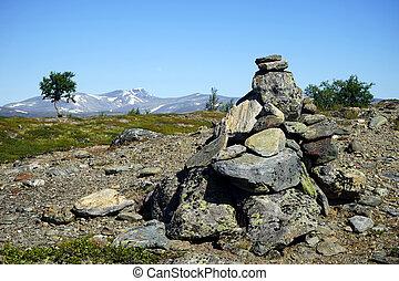 parque, pedras