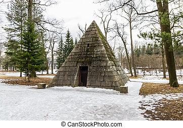 parque, pirámide, catharine, pabellón