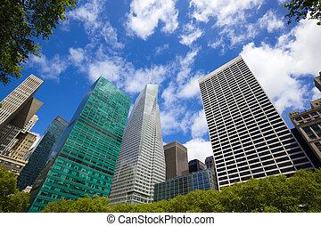 parque, rascacielos, bryant