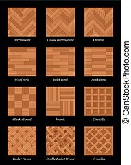 Parquet Floor Pattern Parquetry Black