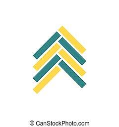 Parquet icon. Flat color design. Vector illustration.