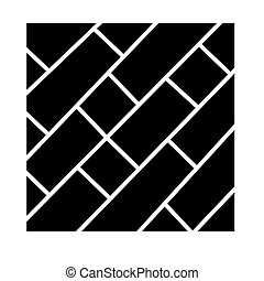 parquet icon, vector illustration, black sign on isolated background