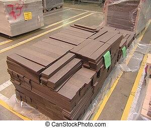 Parquet made %u200B%u200Bof dark and light wood. Industrial...