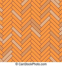 Parquet - Orange parquet with inserts
